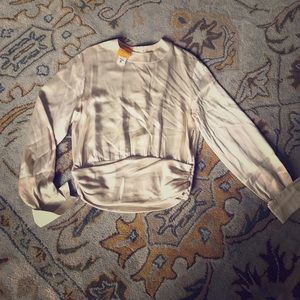 Christian Lacroix Tops - Christian Lacroix Silk Blouse Ivory French Cuffs