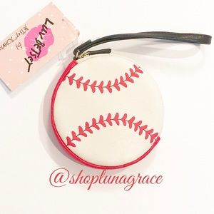 Betsey Johnson Handbags - 🆕 ⚾️Betsey Softball Coin Purse Wristlet⚾️
