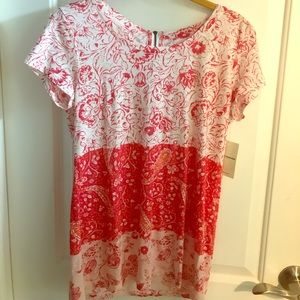 Lucky Brand Tops - NWT Lucky Brand Great Zippered Back Red Floral