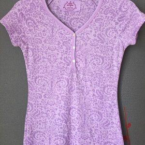 Prana Tops - Prana Waffle Weave Lavender Print Henley