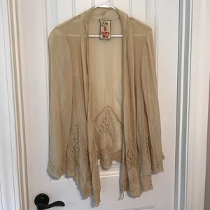 Johnny Was Tops - Johnny Was size M kimono lace sheer vintage boho