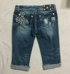 Miss Me Denim - Miss Me Cross Pocket Crop Jean Size 31