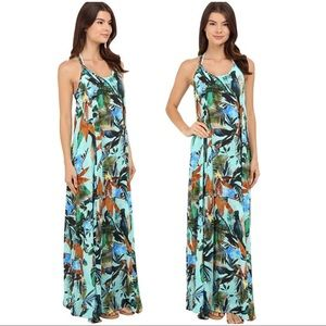 Vitamin A Dresses & Skirts - Vitamin A: Flute' Floral Print Cover-Up Maxi Dress
