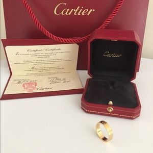 Cartier Jewelry - Cartier Love Ring size 7.25