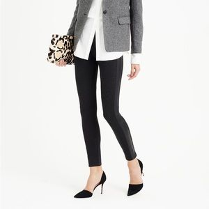 J.CREW PIXIE PANT WITH LEATHER TUX STRIPE