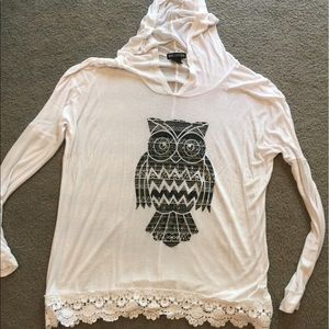 Miss Chievous Tops - Cute hooded owl shirt