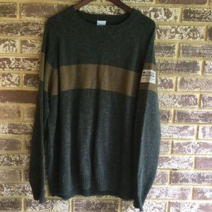Columbia Other - Men's Columbia forest green stripe wool sweater