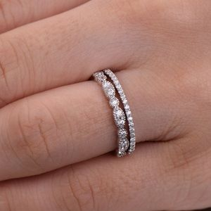 Jewelry - ❤️2pcs real 925 silver wedding bands promise rings