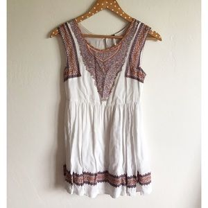 Free People Dresses & Skirts - Free People White Tribal Print Dress