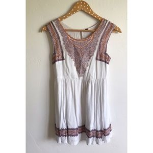 Free People Dresses & Skirts - Free People White Tribal Print Dress