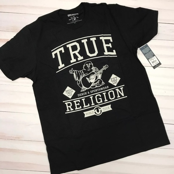 551776d3a06c7 NWT Men s True Religion Buddha Black T-Shirt
