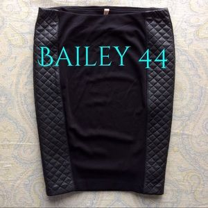 Bailey 44 Dresses & Skirts - 🇺🇸SALE Bailey44 quilt faux leather pencil skirt
