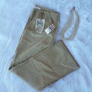 Roxy Pants - Roxy  Sasha Pant Wide Leg 100% Cotton Sz. 7