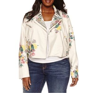 Ashley Nell Tipton Jackets & Blazers - Floral Motorcycle Jacket