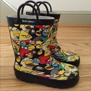 Other - Angry Birds rain boots, boys 9/10