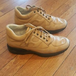 Hogan Shoes - HOGAN INTERACTIVE SNEAKERS TAN SIZE 38