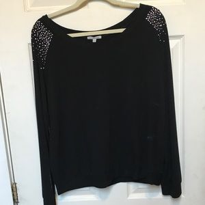 Charlotte Russe Sweaters - Cute black sweater with rhinestones