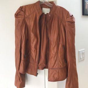 Leather jacket burnt orange