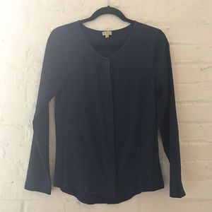 Daniel Cremieux Tops - 🌿OFFICE CHIC NAVY BLOUSE🌿