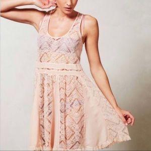 Anthropologie Dresses & Skirts - Anthropologie Eloise Pink Lace Slip Dress