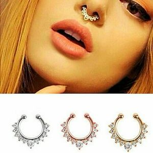 Jewelry - Non pierced gold plated lip/nose ring(gold)