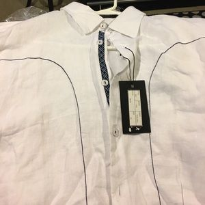 international laundry Shirts - White Linen Shirt