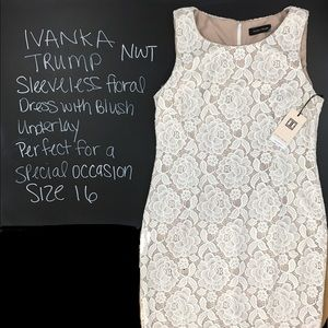 Ivanka Trump Sleeveless Floral Dress