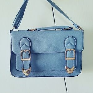 Primark Handbags - Blue satchel shoulder bag