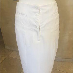 Midi skirt with button waist