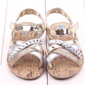 Other - Gold and silver sandals