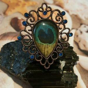Betsey johnson peacock ring