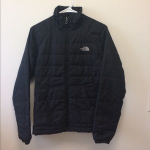 Women's Black North Face Zip-up Jacket