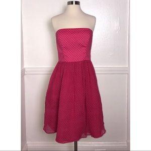 Corey Lynn Calter Strapless Pink Polka Dot Dress