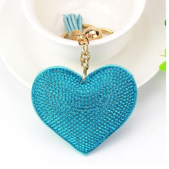 💕Turquoise Heart Purse Charm💕