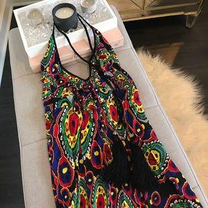 T-Bags Dresses & Skirts - T-Bags Los Angeles Halter Maxi Tassel Dress