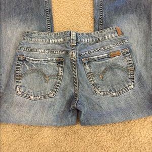 Silver Jeans Denim - 🎶Silver stretchy lightwash flares sz 27-short.