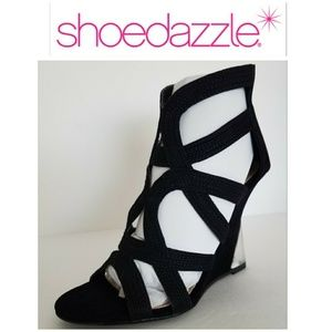 New Black Koriko 7 wedge heels Platforms