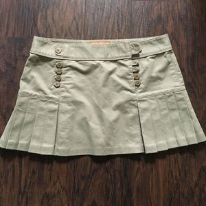 Juicy couture pleated khaki school girl skirt