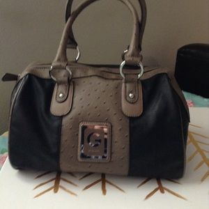 G by Guess black brown purse EUC