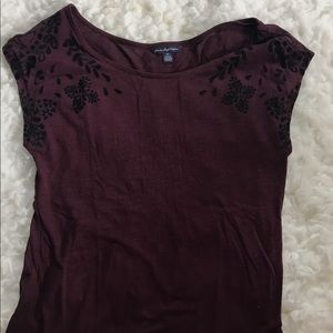 Tops - Top with velvet detail