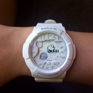 G-Shock Accessories - White Baby-G Shock Resistant Watch