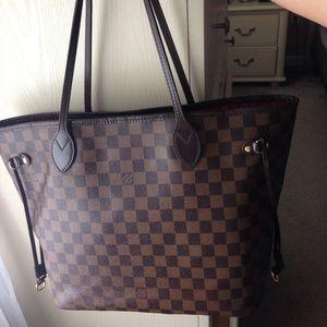 Louis Vuitton Handbags - Authentic Louis Vuitton Neverfull Damier Ebene MM