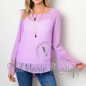 Stunning lavender blouse