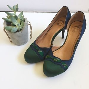 Anthropologie Shoes - Anthropologie Lucky Penny Satin 'Swoops' Heels