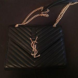 Yves Saint Laurent Handbags - CLASSIC MONOGRAM SAINT LAURENT SATCHEL IN BLACK