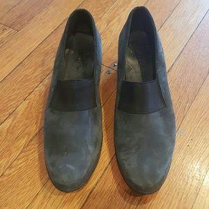 Arche Shoes - ARCHE 38 WEDGE FLAT SHOE BLACK GREY SHOE
