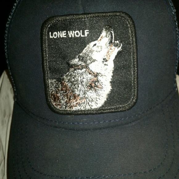 4469c8c6 Goorin Bros Accessories | Navy Blue Lone Wolf Trucker Hat | Poshmark