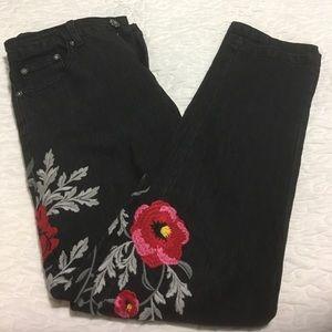 Embroidery stretch& skinny Jeans 👖