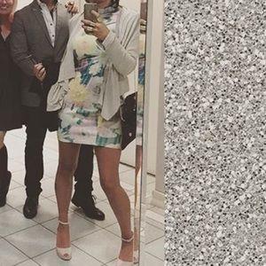 AX Paris Dresses & Skirts - Pastel floral long sleeved bodycon mini dress