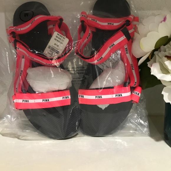 Pink Victoria S Secret Shoes Victorias Secret Pink Velcro Slides
